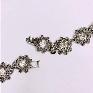 Vintage Jewelry - VINTAGE RMN RHINESTONE NECKLACE